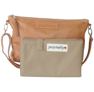 Jeankelly Vanilla Leather Sling Changing Clutch Bag