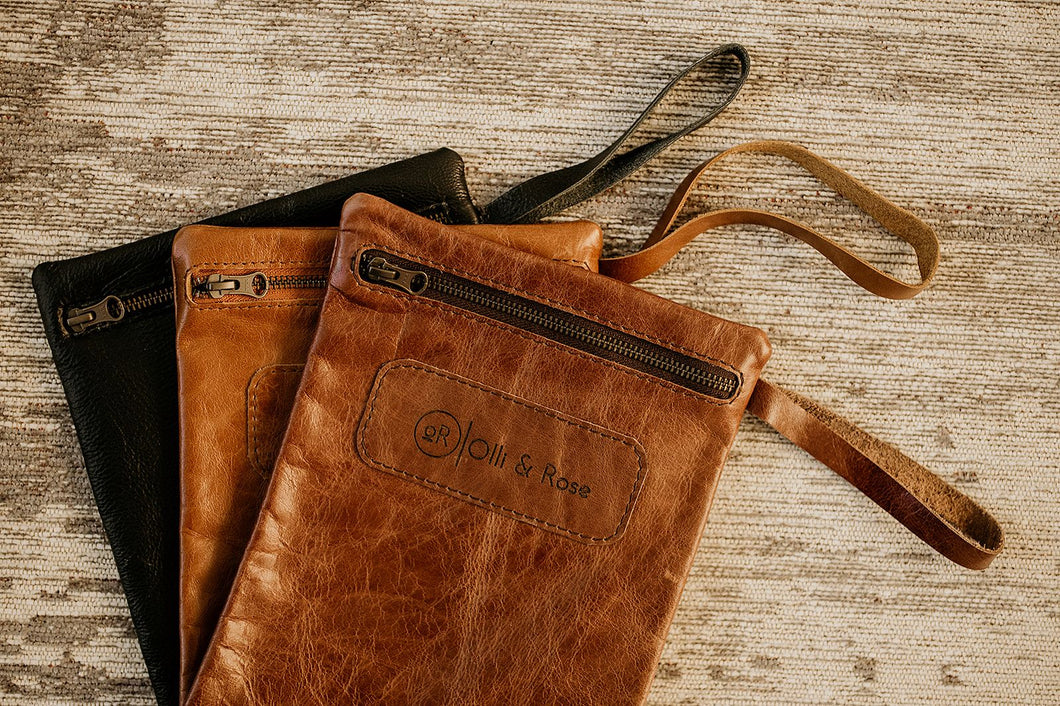 Leather Nappy Pouch