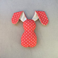 Load image into Gallery viewer, Red Polka Dot Bedtime Bunny