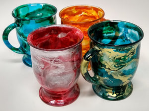 Alcohol Ink Custom Coffee Cups