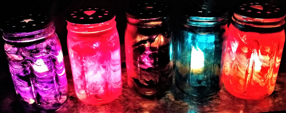 Alcohol Ink Custom Mason Jar Light