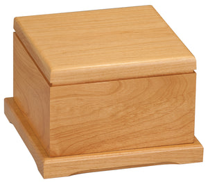 "3 1/4"" Red Alder Pet Urn with Laserable Lid"