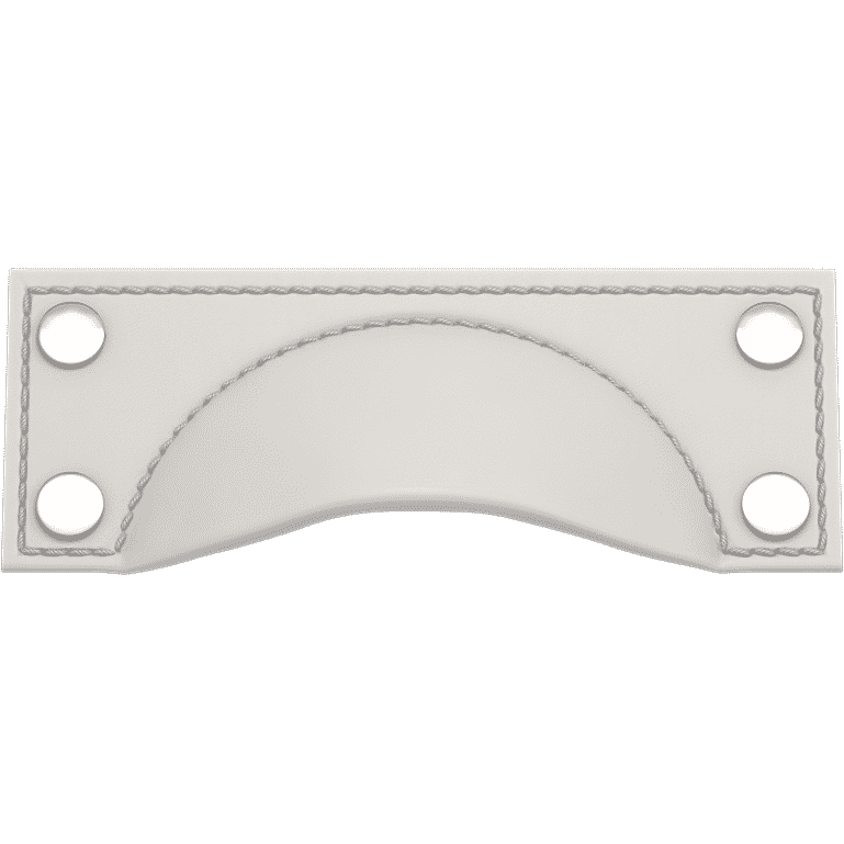 Turnstyle Designs A1183-BW-PN Brass Framed Cup Bow with WHITE (SPECIAL ORDER) Grip and POLISHED NICKEL Finish
