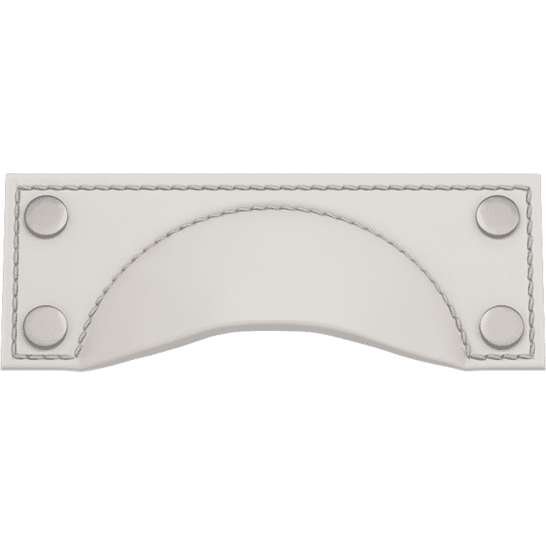 Turnstyle Designs A1183-BW-SN Brass Framed Cup Bow with WHITE (SPECIAL ORDER) Grip and SATIN NICKEL Finish