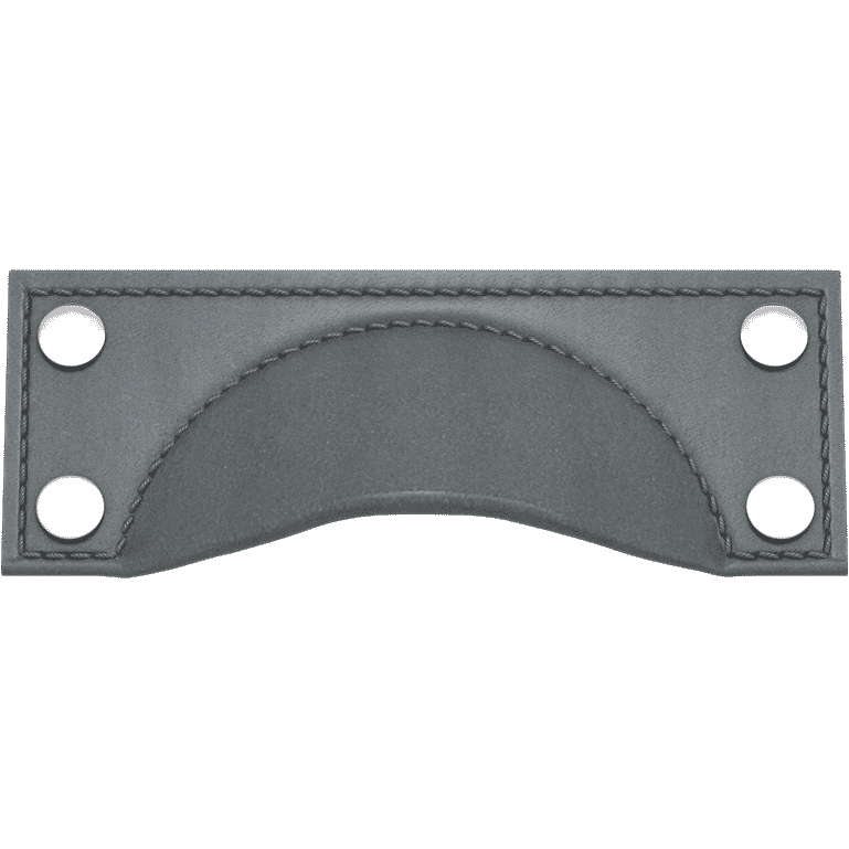 Turnstyle Designs A1183-GC-BC Brass Framed Cup Bow with SLATE GREY Grip and BRIGHT CHROME Finish