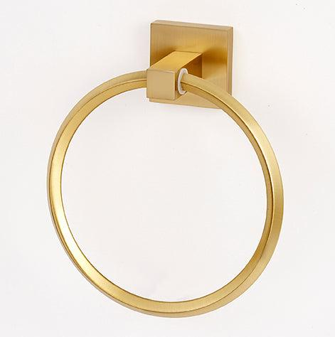 Alno A8440-SB<strong> Towel Ring from the Contemporary II Collection</strong>