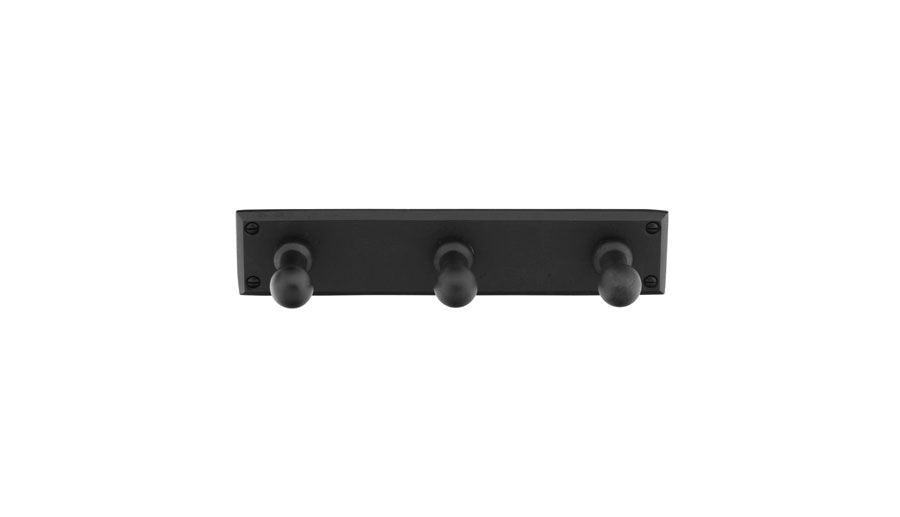 Emtek 2307FB<strong> Sandcast Bronze 3 Hooks with Rectangular Plate from the Sandcast Bronze Bath Hardware collection</strong>