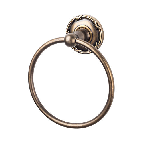 Top Knobs ED5GBZE<strong> Edwardian Bath Ring - German Bronze - Ribbon Backplate</strong>