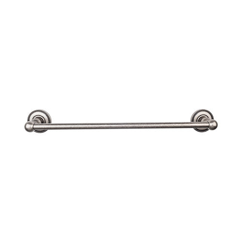 "Top Knobs ED6APA<strong> Edwardian Bath 18"" Single Towel Bar - Antique Pewter - Beaded Backplate</strong>"