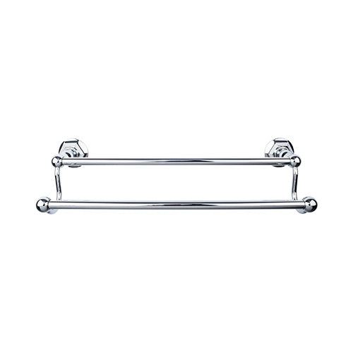 "Top Knobs ED7PCB<strong> Edwardian Bath 18"" Double Towel Bar - Polished Chrome - Hex Backplate</strong>"