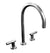 Sun Valley Bronze SVB-CS-KF01-910-RP925/LF-98  Goose Neck Kitchen Faucet  Shown with LF-98 handles