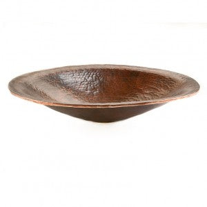 Premier Copper Products Oval Hand Forged Old World Copper Vessel Sink - PVOVAL20