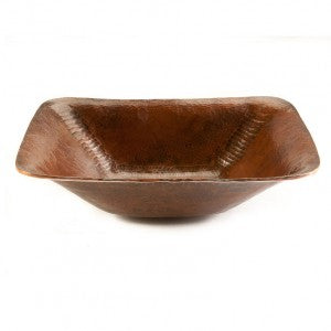 Premier Copper Products Rectangle Hand Forged Old World Copper Vessel Sink - PVREC17