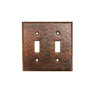 Premier Copper Products Copper Switchplate Double Toggle Switch Cover - ST2