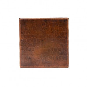 "Premier Copper Products 4"" x 4"" Copper Hammered Tile - T4DBH"