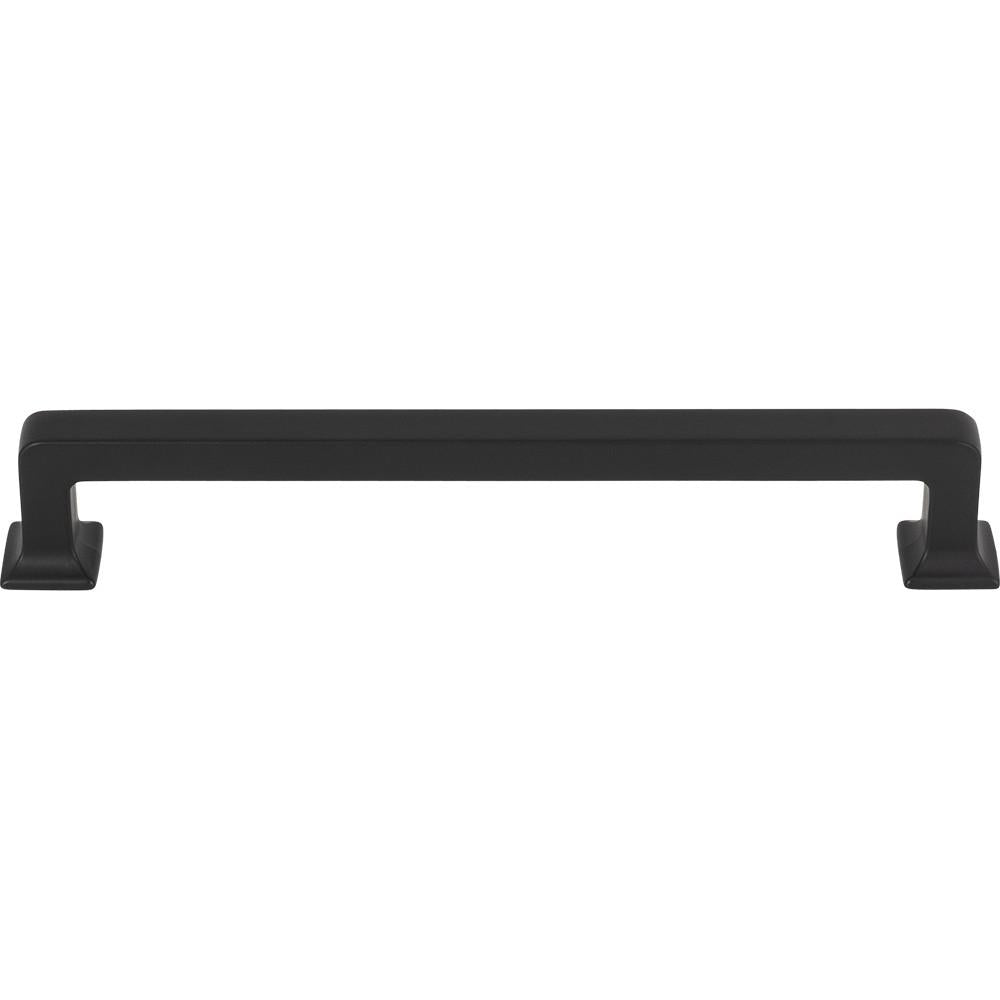 Top Knobs TK705BLK<strong> Ascendra Pull 6 5/16 Inch (c-c) - Flat Black from the Transcend collection</strong>
