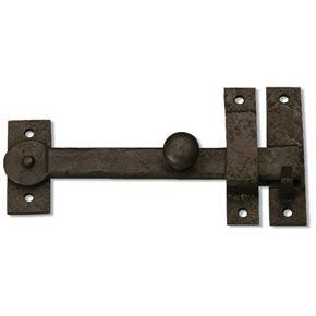 "Coastal Bronze 50-100 Bronze Door Drop Bar Latch w/ Knob - 7 1/2"" L"