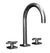 Sun Valley Bronze SVB- CS-LF05-900-P925/LF-901  Goose Neck Lavatory Faucet  Shown with LF-901 handles