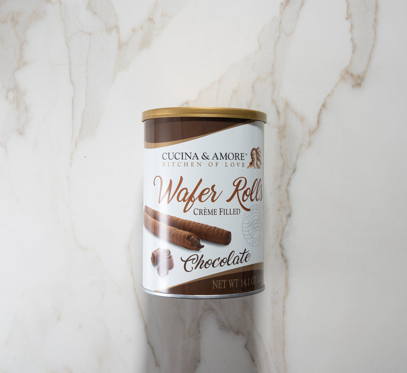 Cucina & Amore Wafer Rolls  - Chocolate Cream Filled