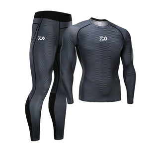 Daiwa Compression Pants And Shirt Grey