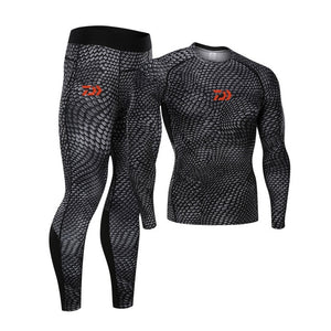 Daiwa Compression Pants And Shirt White