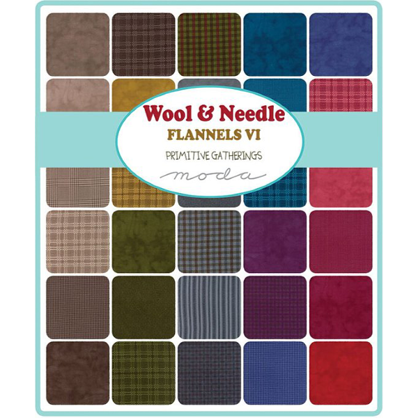 Wool & Needle Flannels VI by Primitive Gatherings