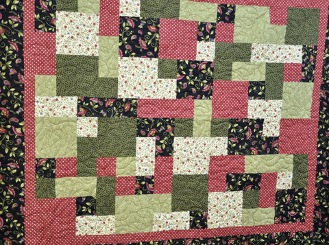 Janet S Green And Floral Take 5 Quilt Quilted Thimble