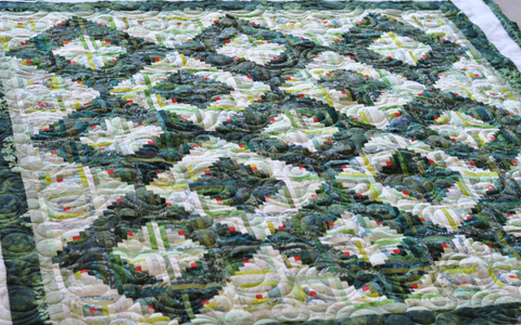 Log Cabin Christmas Quilt.Kathy S Log Cabin Quilt Quilted Thimble Cottage