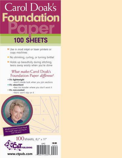 Carol Doak's Foundation Paper - 100 Sheets