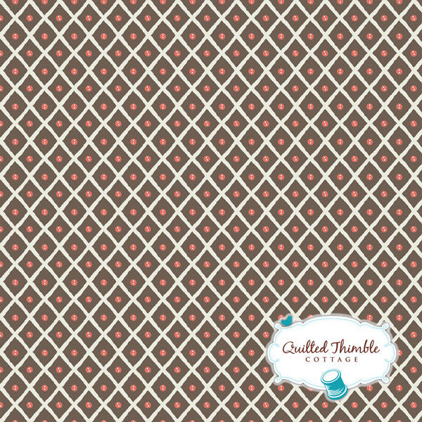 Feather N Stitch by Sarah Watts - Dot Trellis Brown (110.101.02.2)