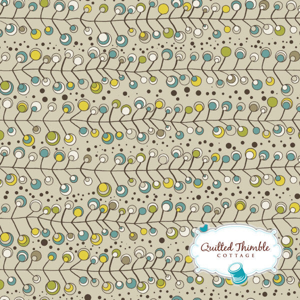Brook by StudioE Fabrics - Branches Turquoise (E60-1470)