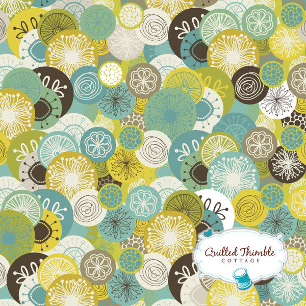Brook by StudioE Fabrics - Allover Circle Turquoise (E60-1476)