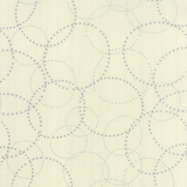 Modern Background Paper by Zen Chic - XOXO in Graphite Eggshell (1584-15)