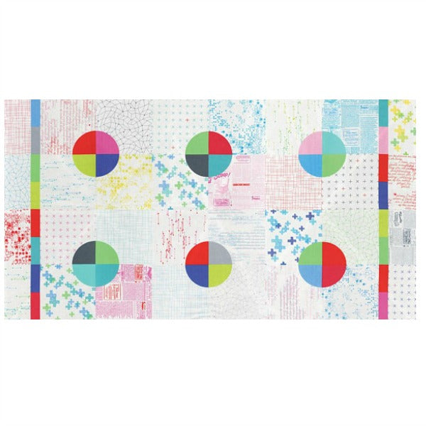 Modern Background Colorbox by Zen Chic - White Cheater Quilt Panel (1640-11)