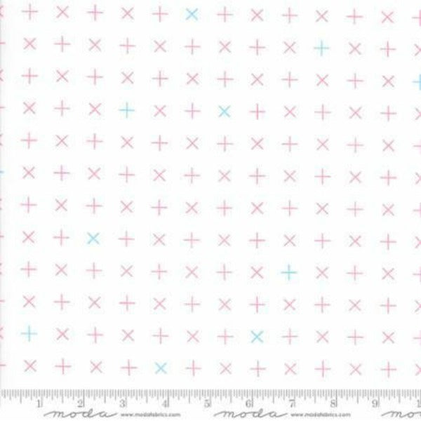 Modern Background Colorbox by Zen Chic - Peony Crosses on White (1645-13)
