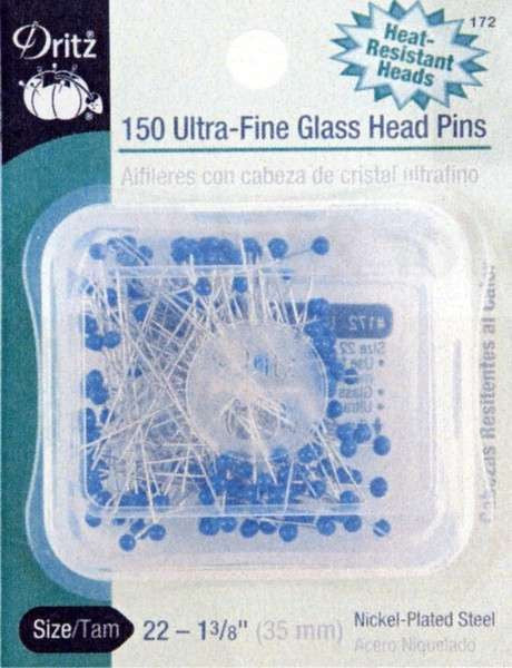 Dritz 150c Ultra fine Glass Head Pins