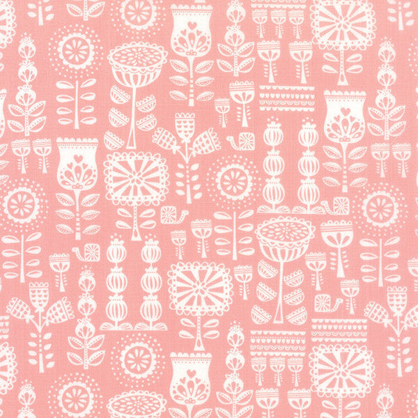 Lil' Red by Stacy lest Hsu - Grandma's Wallpaper in Pink (20504-12)