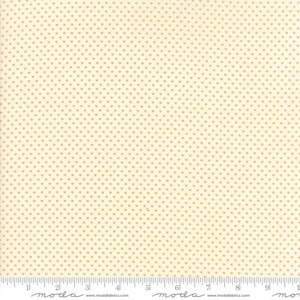 Home Sweet Home by Stacy Iest Hsu - Swiss Hearts Pink on Cream (20577-11)