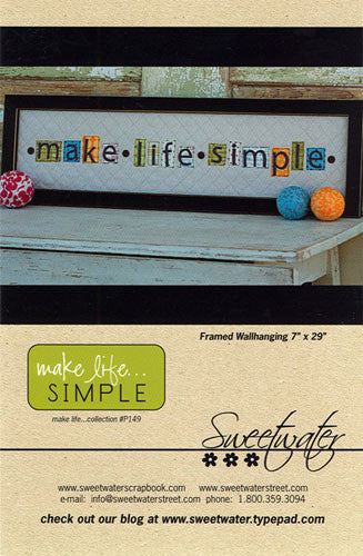 Pattern - Make Life Simple by Sweetwater