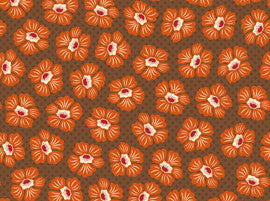Dominique by Denise Urban - Tossed Flower Heads Brown (22330-A)