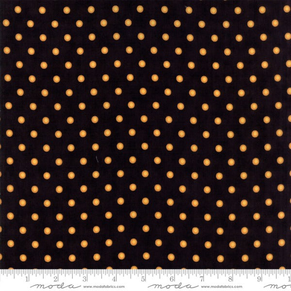 Dot Dot Boo by Me and My Sister Designs - Hollow Dots in Black and Orange (22333-21)