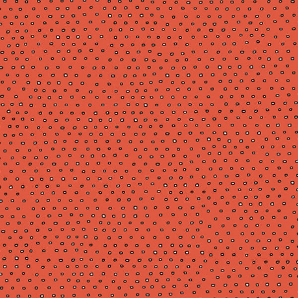 Pixie Square Dot Blender by Ink & Arrow Fabrics - Square Dot in Tomato (24299-O)