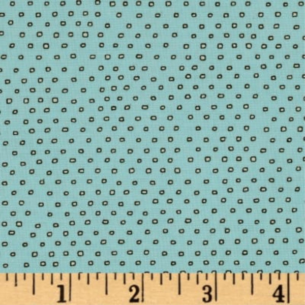 Pixie Square Dot Blender by Ink & Arrow Fabrics - Square Dot in Aqua (24299-QH)
