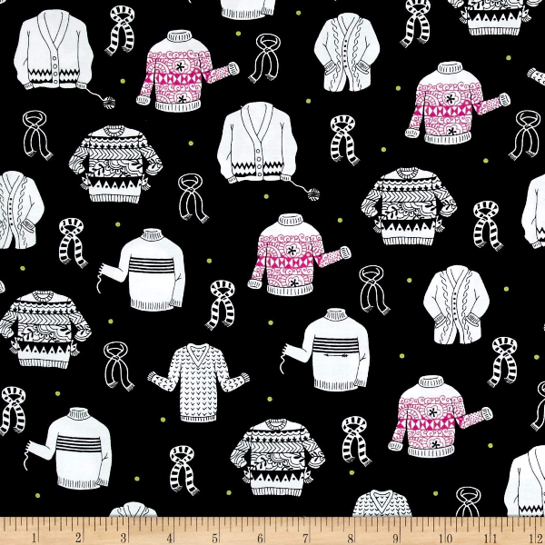 Wool Ewe by Ink & Arrow Fabrics - Sweaters in Black (26117-B)
