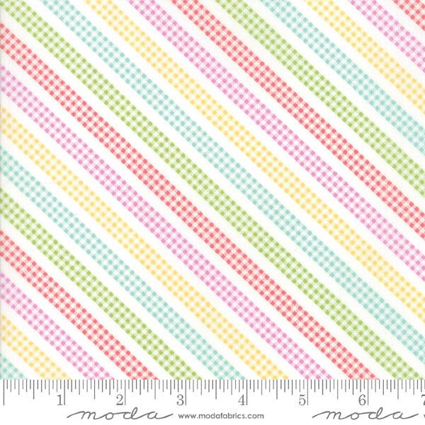 Sunnyside Up by Corey Yoder - Bias Gingham Stripe in Multi (29058-11)