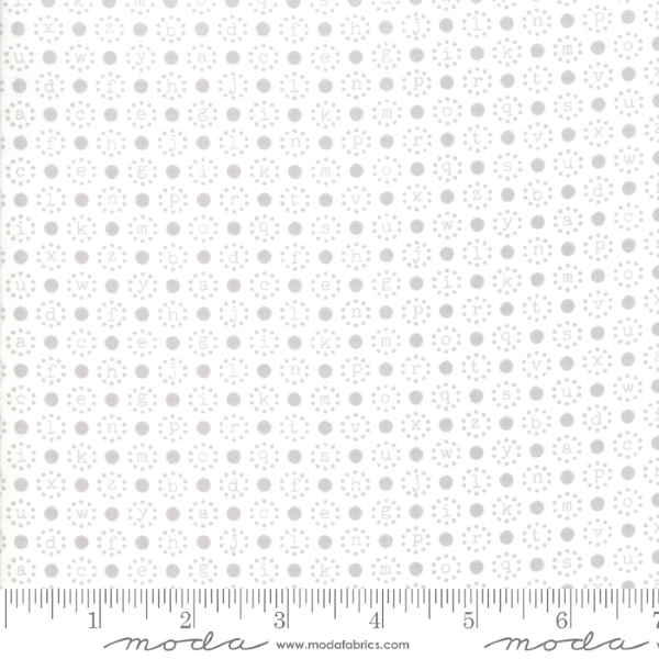 Sugarcreek by Corey Yoder - Letter Polka in Grey (29074-22)
