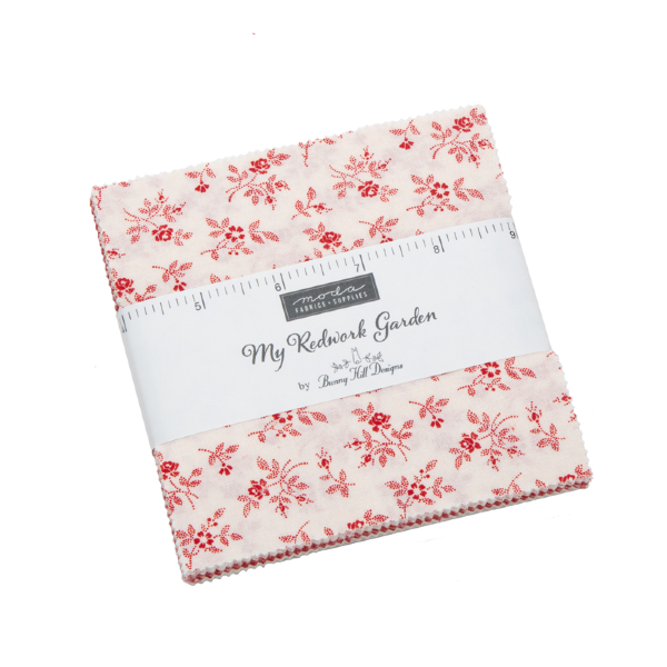 My Redwork Garden by Bunny Hill Designs - Charm Pack (2950PP)