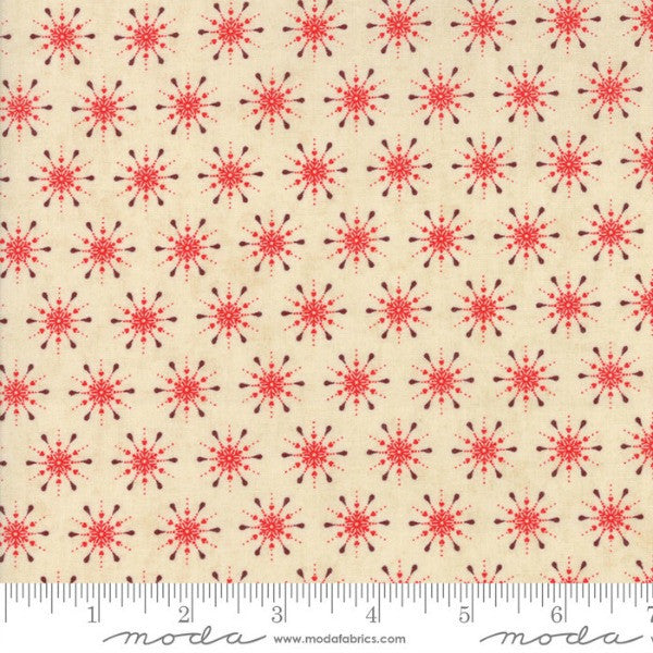 Berry Merry by BasicGrey - Snowflake in Cream-Scarlet (30475-13)