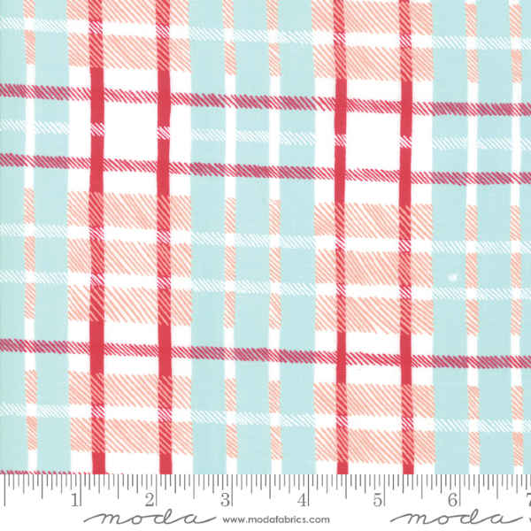 To Be Jolly by One Canoe Two - Plaid in Frosty and Berry (30646-12)