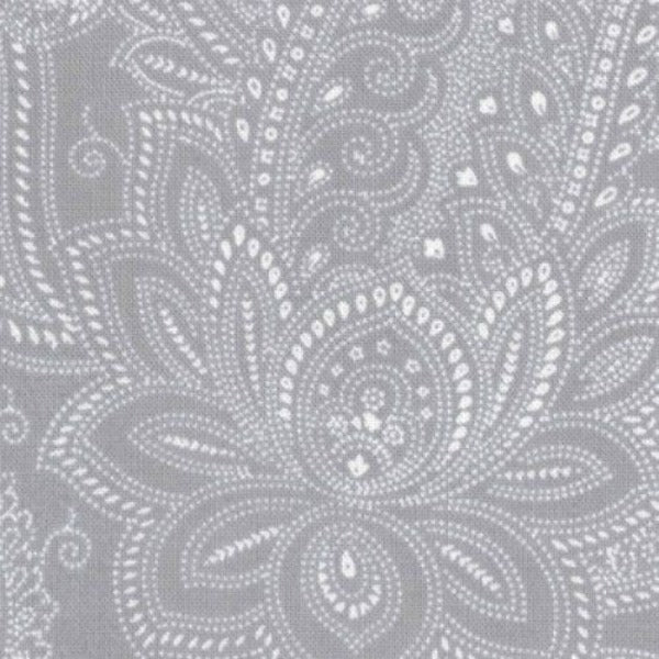 Half Moon Modern by Moda Fabrics - Paisley in Steel (32352-32)